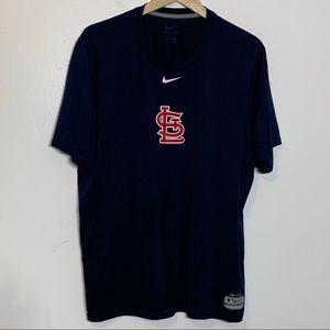 EUC St Louis Cardinals Nike Dri-Fit Navy T-shirt